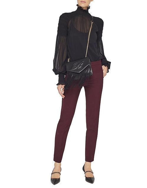 BLUMARINE Burgundy Trousers