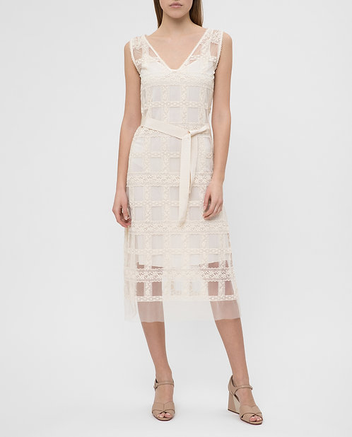 ERMANNO Tulle midi dress