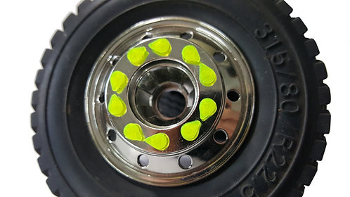 Wheel nut indicators TAMIYA FRONT 20 pcs