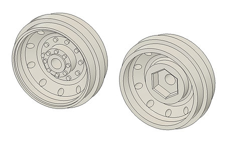 3D printed 40mm Rims for Robbe tires