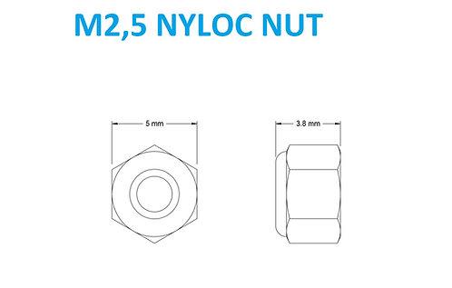 M2,5 NYLOC NUT - 25pcs