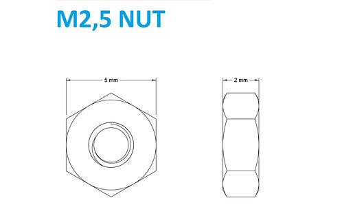 M2,5 NUT - 25pcs