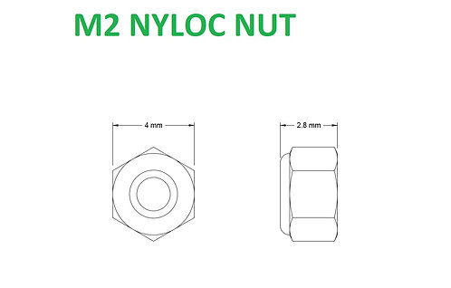 M2 NYLOC NUT - 5pcs