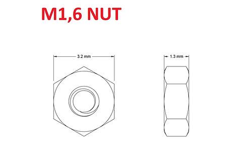 M1,6 NUT - 25pcs