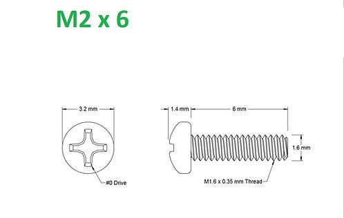 M2x6 Button Phillips - 25pcs