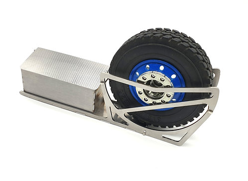 Wheel rack with box