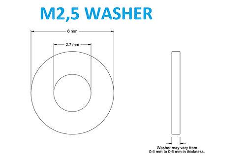 M2,5 WASHER - 25pcs
