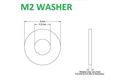 M2 WASHER - 25pcs
