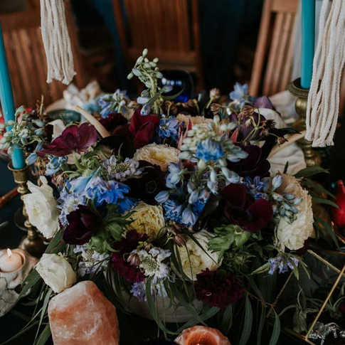 Moody Blue Styled Wedding at Moss