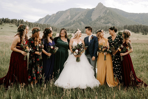 Jewel Tone Boho Bridesmaids