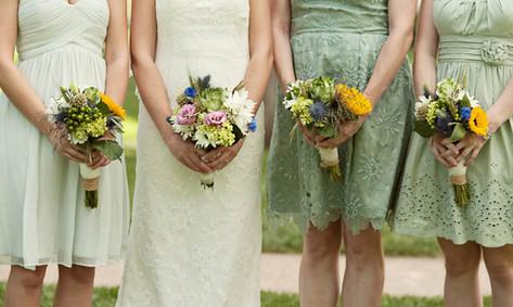 Mint Bridesmaid's Bouquets