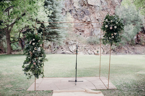 Copper Pipe Chuppah