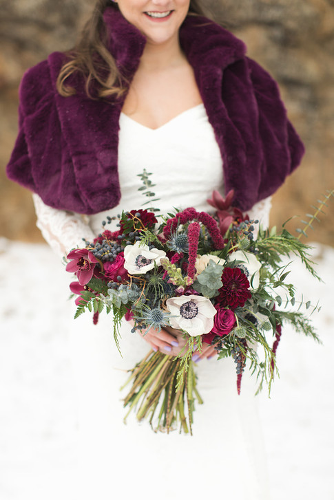 Winter Burgundy Bouquet
