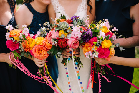 Pom Pom Bouquets