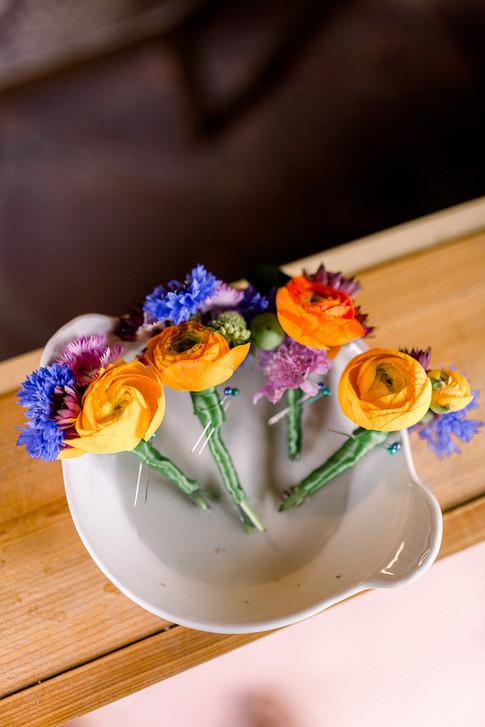 Rainbow Ranunculus Boutonniere
