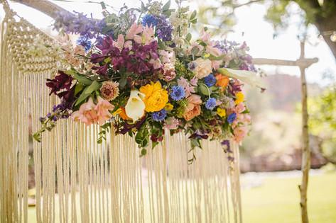 Rainbow Wild Flower Wedding
