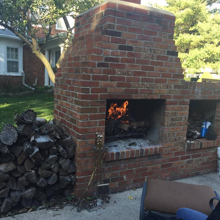 The Manor Outdoor Fireplace