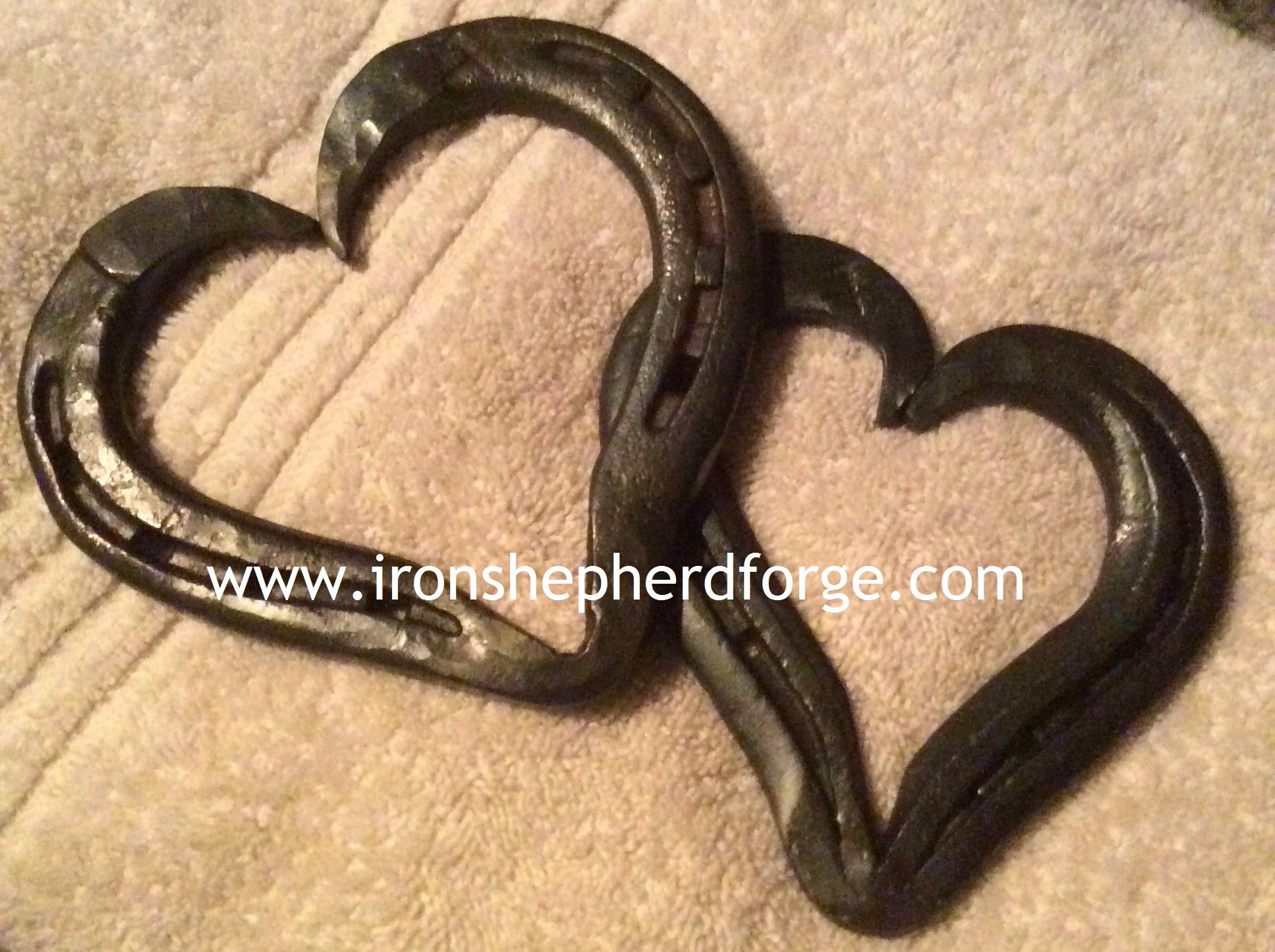 watermarked horseshoe hearts