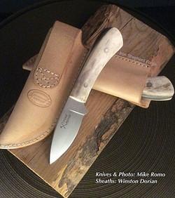 Antler handle blade pair