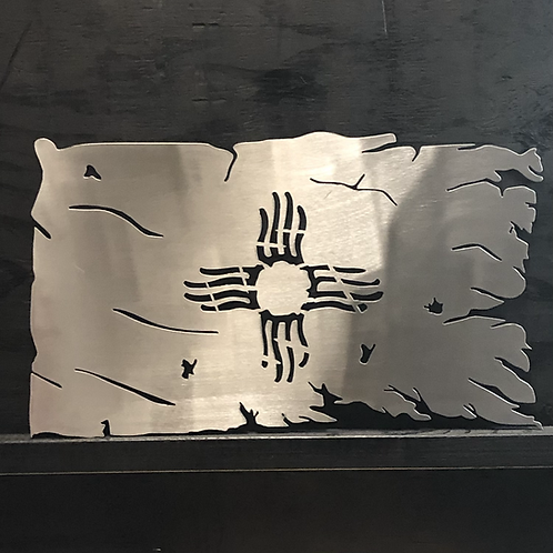 Zia Tattered Flag - New Mexico Tattered Flag - Zia - New Mexico Flag