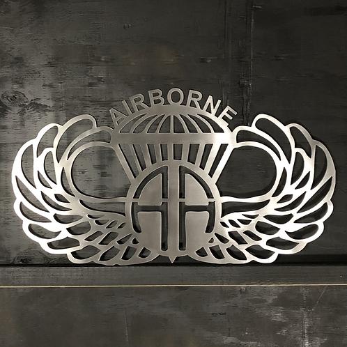 AIRBORNE - Paratrooper - metal art - sign - Airborne Assault - 82nd - US ARMY