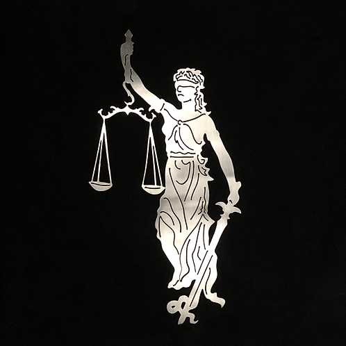 Lady Justice sign - wall art - art sign - wall decor