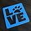 Thumbnail: Dog paw LOVE beverage coaster