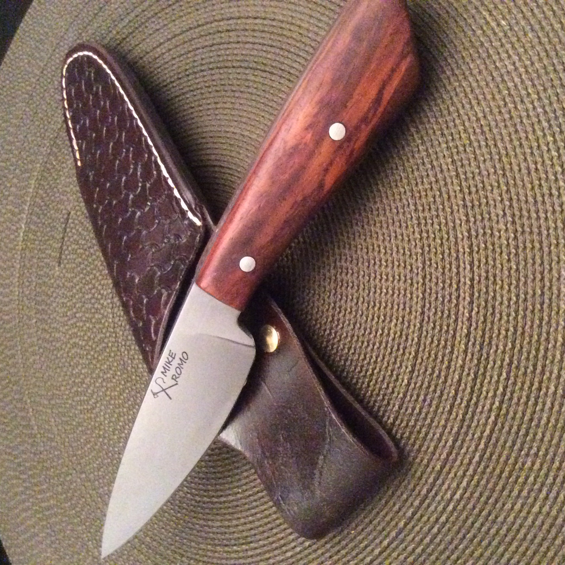 Drop point hunter cocobolo