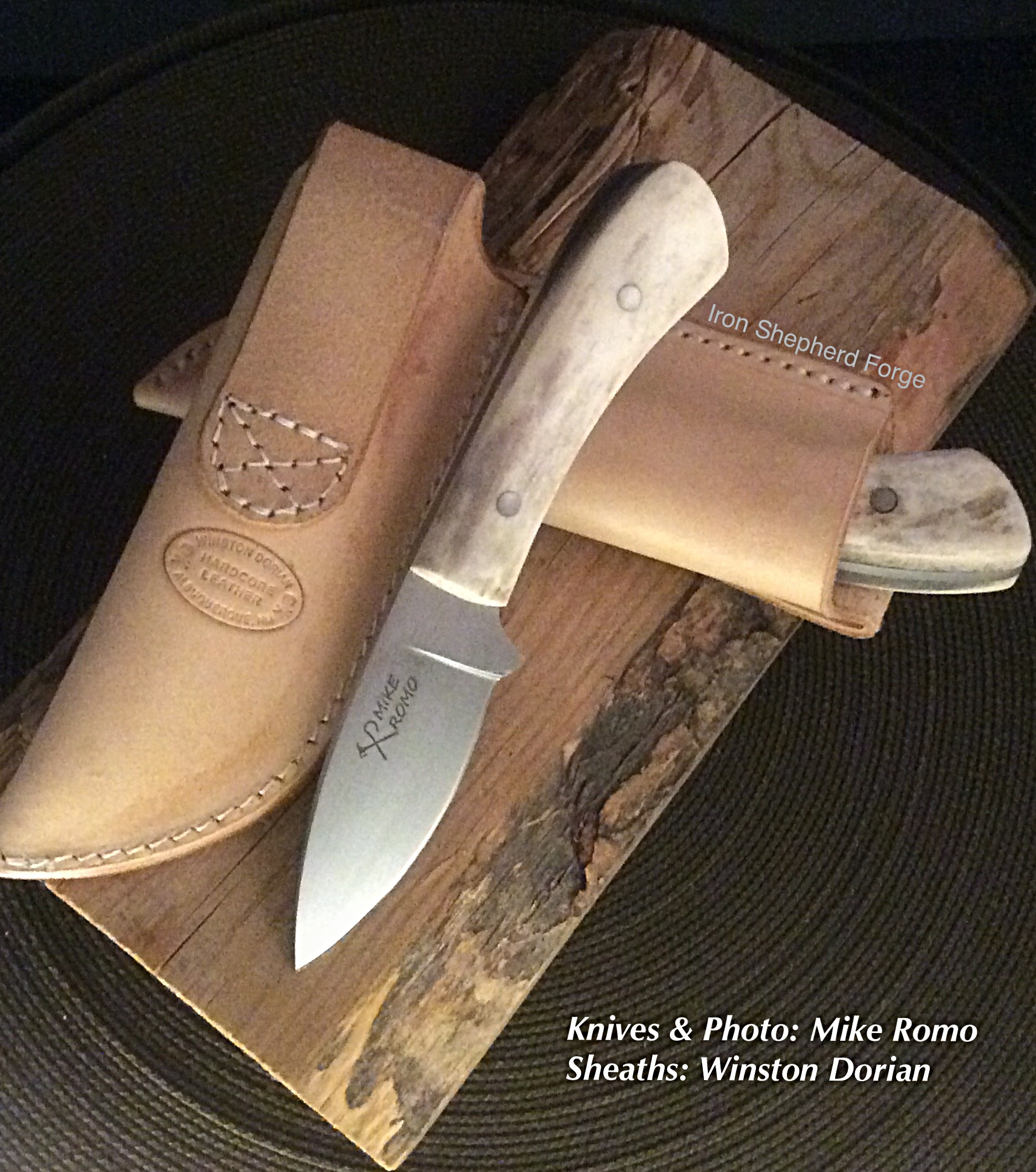 Antler handle blade pair