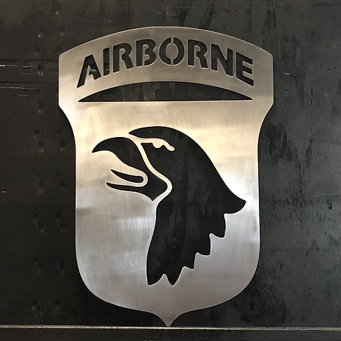 101st Airborne - Screaming Eagles - Metal Art Sign