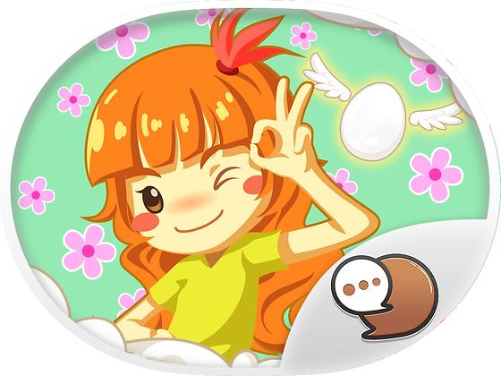 Egg-E-egg Girl สติกเกอร์