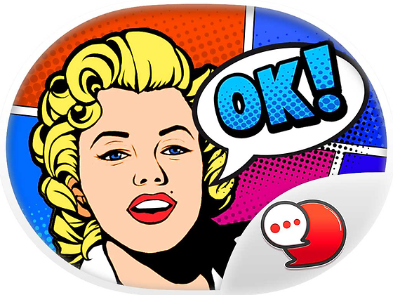 Pop Art Chat สติกเกอร์