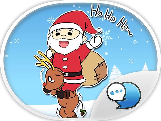 Merry Christmas Cartoon Stickers