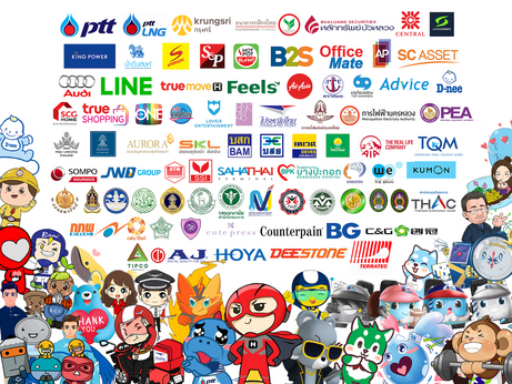 รีวิวตัวต้นแบบมาสคอต Mascot ลูกค้าที่ใช้บริการออกแบบสติกเกอร์ไลน์กับ ChatStick ชุดที่ 4
