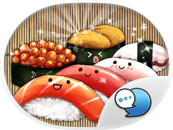 Japanese Food สติกเกอร์ฟรี