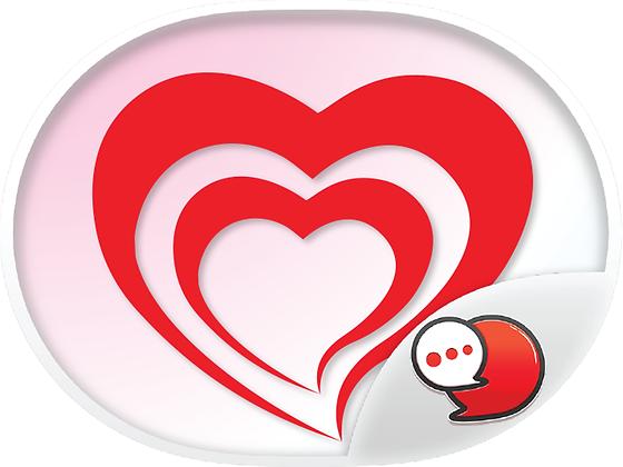 Red Heart Collection สติกเกอร์