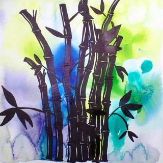 Bamboo (2016)-Auqarell_auf_Aquarellpapie