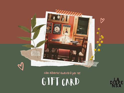 GIFT CARD special dinner