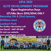 APIA ELITE DEVELOPMENT PROGRAM 2021 TRIALS