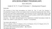 APIA DEVELOPMENT PROGRAM (ADP)