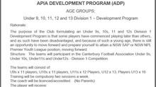 APIA DEVELOPMENT PROGRAM (ADP)