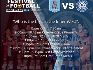 FESTIVAL OF FOOTBALL SUNDAY 3OTH MAY 2021