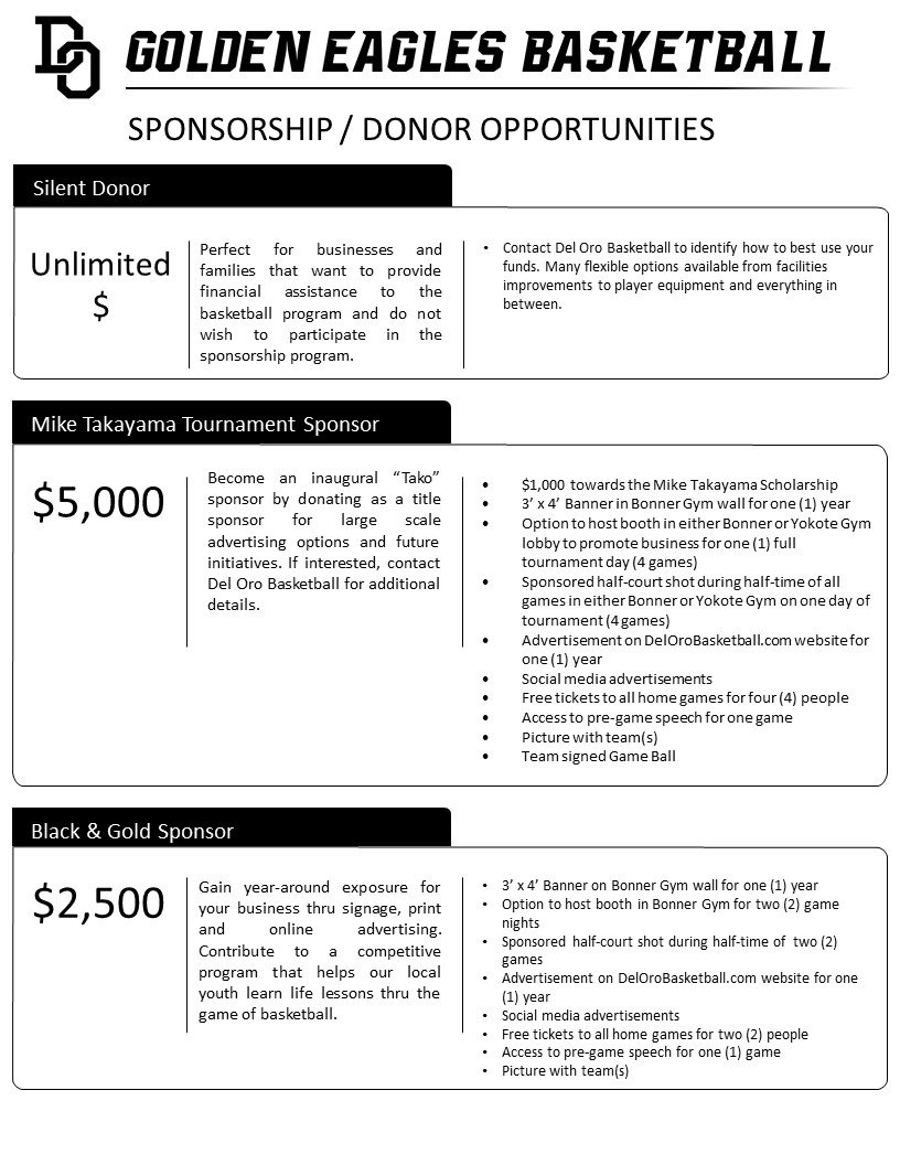 Sponsorship & Donation Prospectus Final