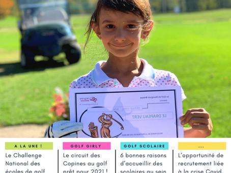 LIGUE AURA - 1ère newsletter trimestrielle Ecole de Golf