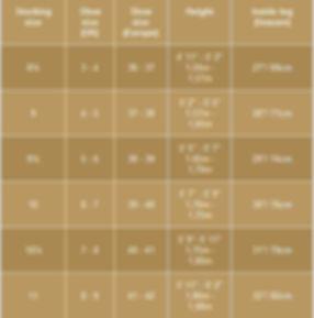 Crossdresser Stockings Chart