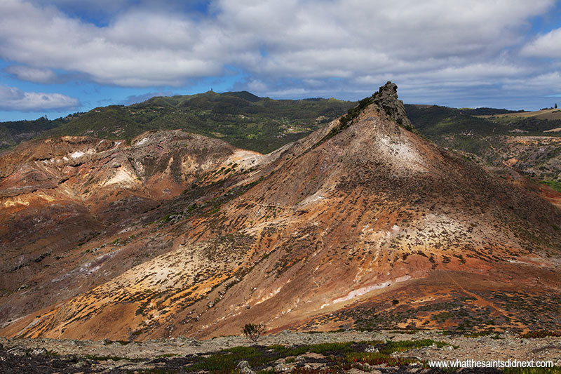 View of St Helena from near the summit of Great Stone Top Post Box walk.