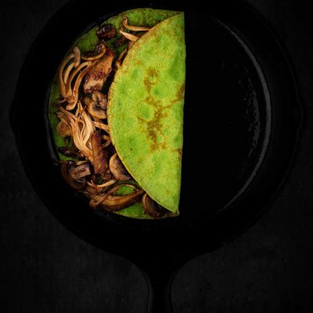 Spinach, Coriander & Mint Crêpe