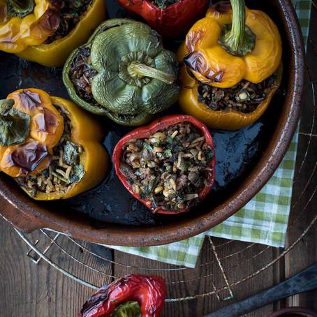 Persian Stuffed Pepper  (Dolmeh Felfel)