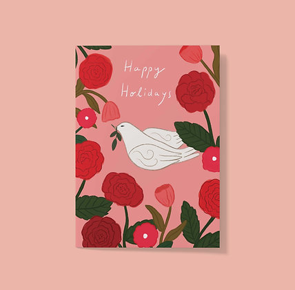Happy Holiday Blooms - Greeting Card