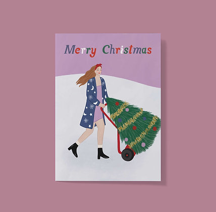 Merry Christmas Tree - Greeting Card